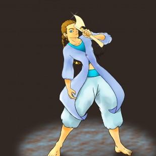 Original character Jam and his golden axe